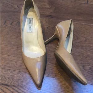 AUTHENTIC JIMMY CHOO NUDE PUMPS